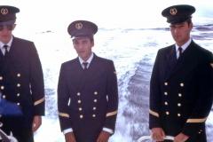 Cérémonie en mer avec Morel et Houille